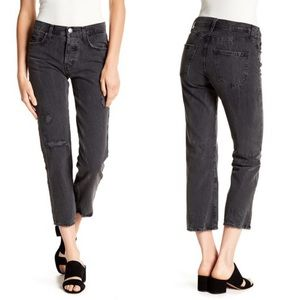 NWT Current Elliott Original Straight Cropped Jean